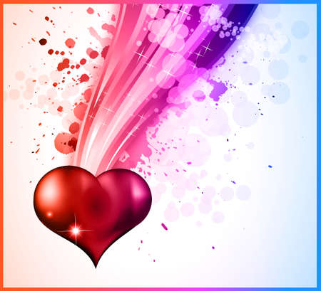 Abstract DISCO Background For Valentine's day Flyer Stock Vector - 8619727