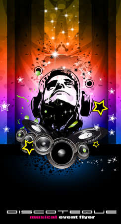 King of the Disco Backgorund for Music Event flyers Stock Vector - 8824908