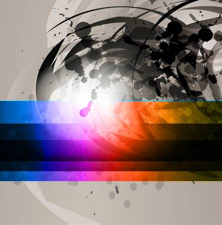 Stylish Business Technology Background woth Rainbow gradient and Abstract shapes Vector