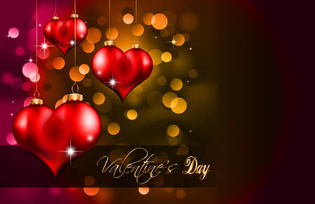 Elegant  Valentines Day Flayer for important invitation Vector