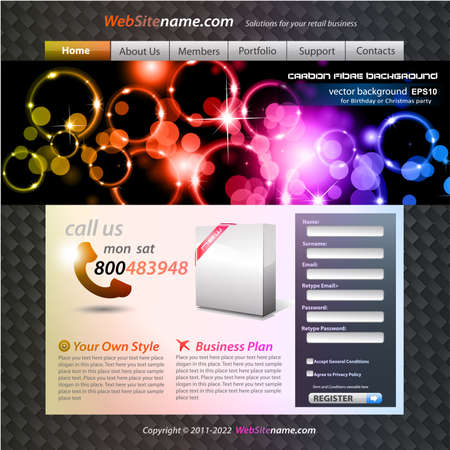 developing: Website Colorful Abstract Template for Stylish web developing
