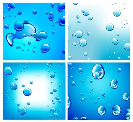 saubere luft: Fl�ssige Drops Hintergrund mit starken Farbkontrast Illustration
