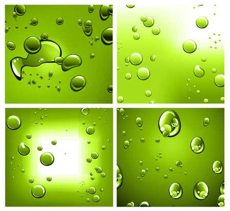 puros: Fondo de gotas líquido con fuerte contraste de color Vectores