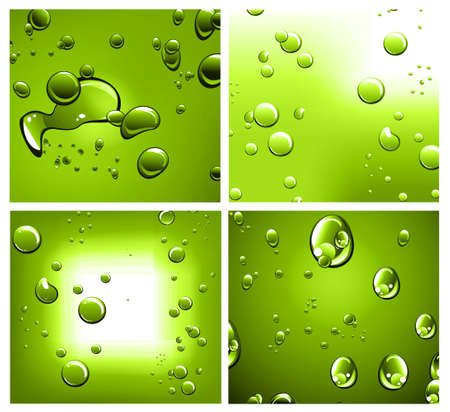 Liquid Drops Background with Strong Colour Contrast Vector