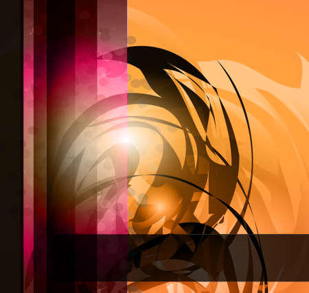 Hitech Abstract Business Background with Abstract Glowing motive Vector