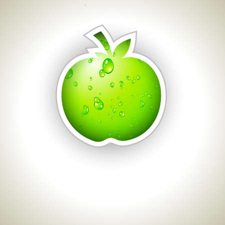 go green: Go Green and Recycle Everything Slogan with green liquid apple for Eco Flyers Illustration