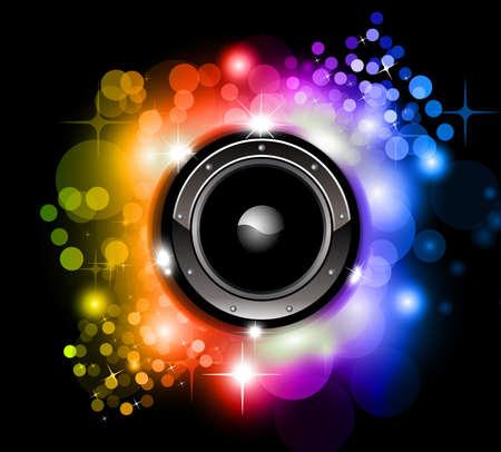 disk jockey: High Tech Futuristico Discoteca Musica di sottofondo con le luci incandescenti Arcobaleno