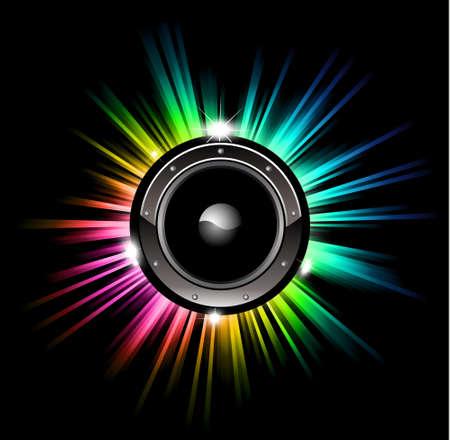neon party: High Tech Futuristico Discoteca Musica di sottofondo con le luci incandescenti Arcobaleno