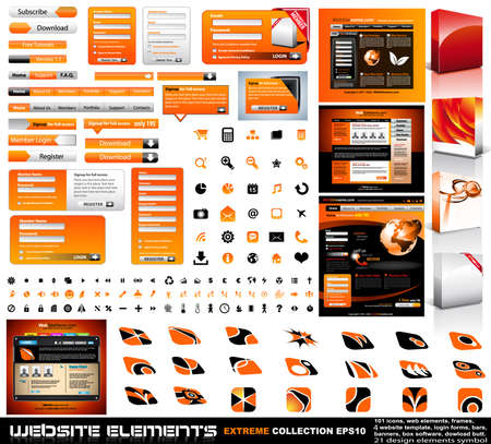 button: Web design elements extreme collection - frames, bars, 101 icons, bannes, login forms, buttons.4 websites,4software boxes and so on!