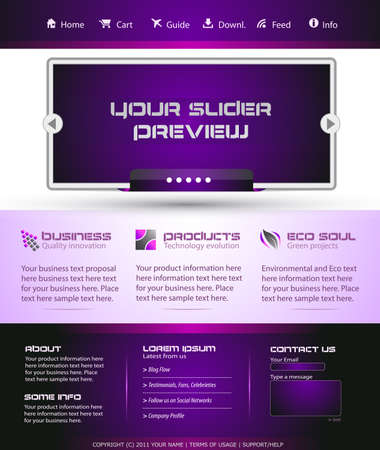 Business Webtemplate or Wordpress Blog Graphic with Modern Clean lines. Vector