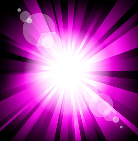 Abstract Light Colorful Explosion Purple Version Vector