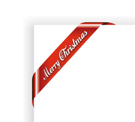 Merry Christmas Robbon or Tag for Image framing -  Red Version
