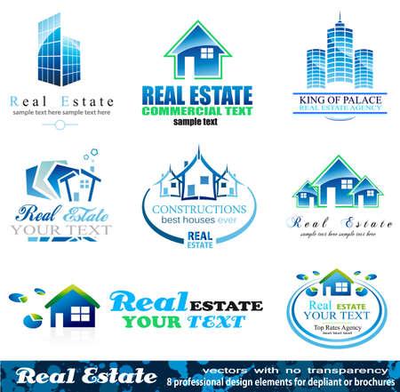 Real Estate Design Elements - Set 1 Vector