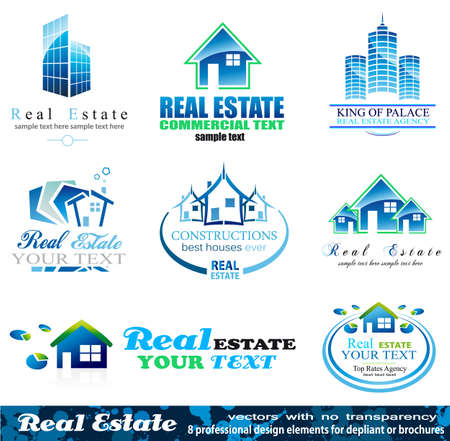 real estate: Real Estate Design Elements - Set 1