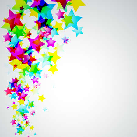 rainbow color star: Abstract Rainbow Stars Flyer with delicate Gradient Background