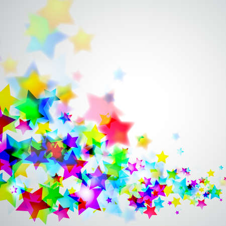 star shape: Abstract Rainbow Stars Flyer with delicate Gradient Background