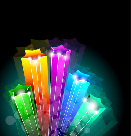 flare light: Amazing Rainbow Stars Background for Business Stylish Flyers Illustration