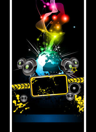 Alternative Disco Flyer for International Music Event Stock Vector - 9226805