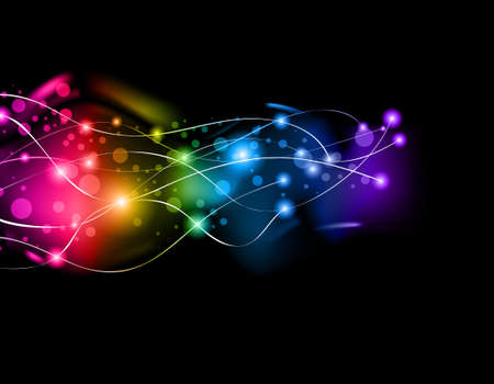 flares: Abstract Space Scenary of llight with Raibow Colours Background