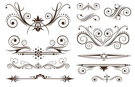 twirl: Adorno y decoraci�n de fronteras en dise�os est�ndar Vectores