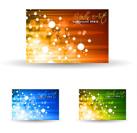 Business Corporate Card with Waterfall of Lights Background  Stock Vector - 9303203