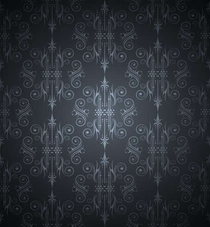 Seamlessly Wallpater with Dark Tones Vector