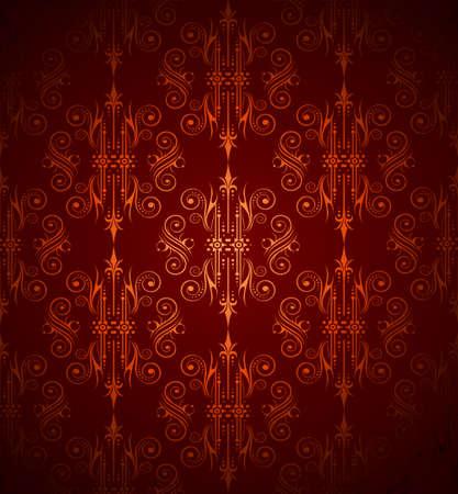 seamlessly: Perfettamente Wallpater con rosso scuro e arancio ColoursTones