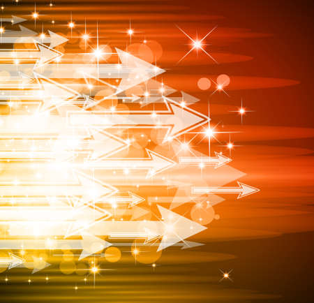 Sugestive Abstract Background with Arrows and Flow of Lights Vector