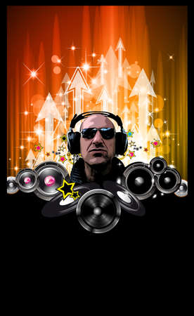 King of the Discoteque: Alternative Music Event Flyers Vector