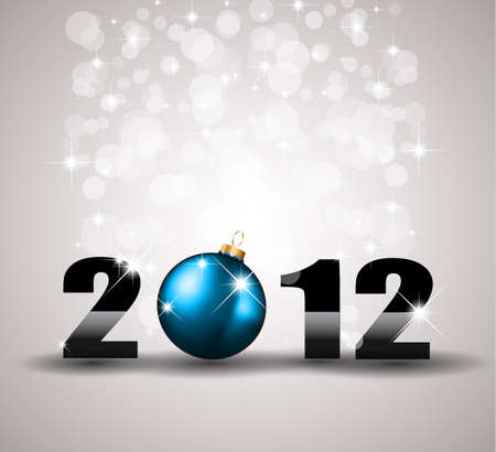 2012 New Year Celebration Background with Glitters Vector