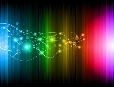 Abstract Futuristic Rainbow Lights Background for Poster of Flyers Vector