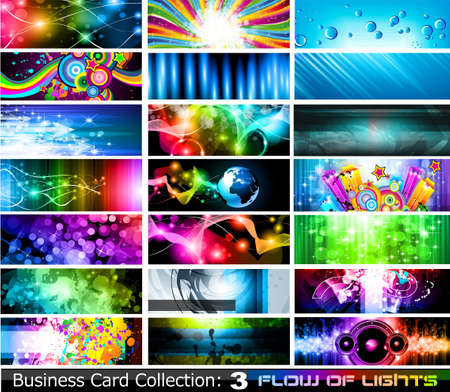 Astratto Business Card Collection: Flusso di luci - Set 3