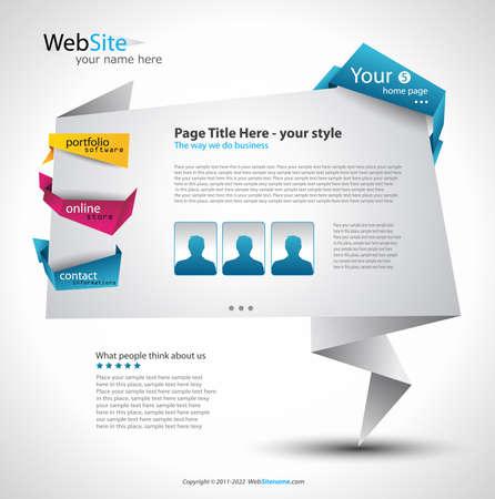 website: Origami Website - elegantes Design f�r Business-Pr�sentationen. Jede Shadow ist transparent