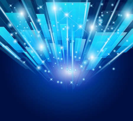 Abstract Glow of lights for Business or Corporate Flyers background.