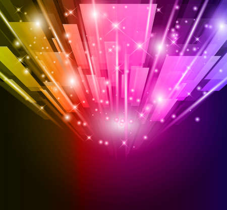 Abstract Glow of lights for Business or Corporate Flyers background. Vector