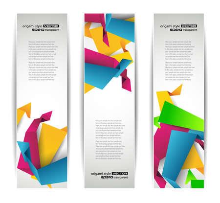 Set of abstract modern header banner for flyer or website Stock Vector - 9662600