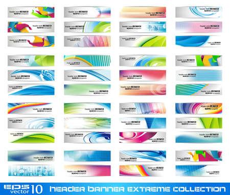 Encabezado Banner extrema colección - lista para usar para el diseño del sitio Web o blog Ilustración de vector