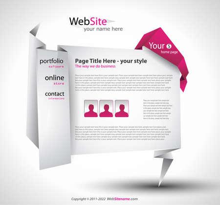 Origami Website - Elegant Design for Business Presentations. Stock Vector - 9662583