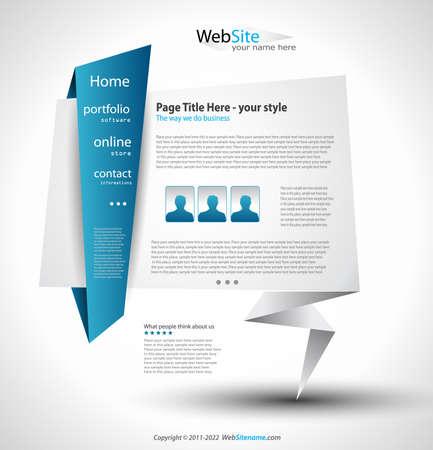 Origami Website - Elegant Design for Business Presentations. Stock Vector - 9662588