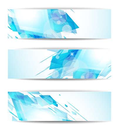 website header: Set of abstract modern header banner for business flyer or website