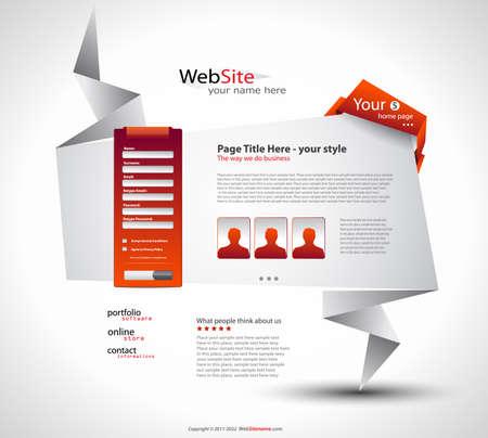 Origami-sito Web - Design elegante per presentazioni aziendali. Ogni ombra è trasparente