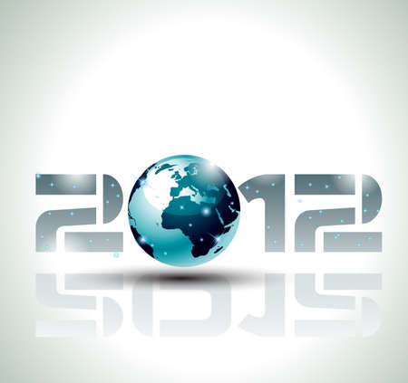 High tech and technology style 2012 happy new year celebration background for your posters, flyers and business presentations. Vector