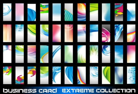 Big collection of corporate business cards background to use for distribuition flyers or poster. Big variety,shapes and colours. Stock Vector - 9888561