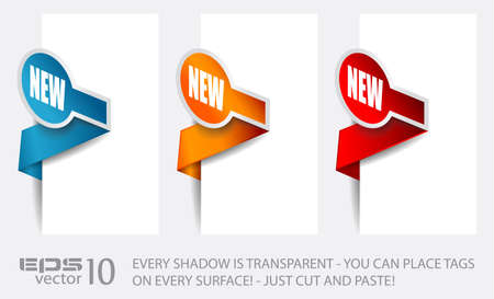 Paper Circular Style tags with transparent shadows. You can place it on every surface! Vector