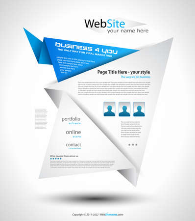 Origami Website - Elegant Design for Business Presentations. Shadows are  transparent Stock Vector - 9888573