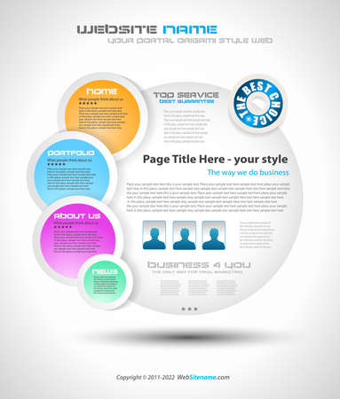 Bubble Style Website - Elegant Design for Business Presentations. Every Shadow is transparent Stock Vector - 10085463