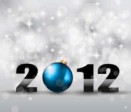 suggestive: 2012 New Year Celebration Background with Glitters and a lot of stars and lights suggestive effect.