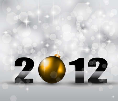 2012 New Year Celebration Background with Glitters and a lot of stars and lights suggestive effect. Stock Vector - 10298537