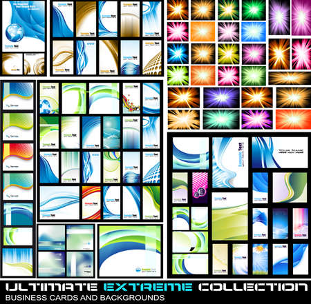 Ultimate Extreme Collection of business corporate cards and lbackground - A lot of pieces for all kind of cover,brochures and original presentations background. Vector
