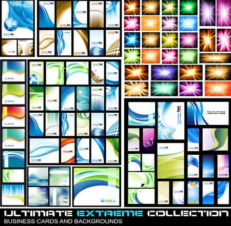 sjabloon: Ultimate Extreme Collection van zaken bedrijfskaarten en lbackground - Veel van de stukken voor alle soorten van de dekking, brochures en originele presentaties achtergrond.
